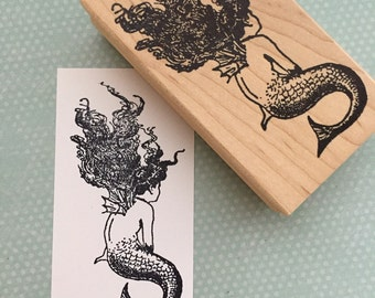 Mermaid Rubber Stamp 5531