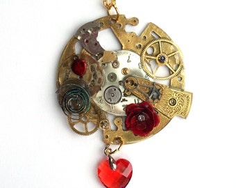 The Ultimate Steampunk Valentine Necklace --OOAK