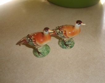 vintage salt pepper shakers set pheasant bird japan