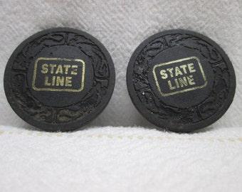 State Line 5 Dollar Poker Chip, Los Vegas Nevada, Casino poker chip card games