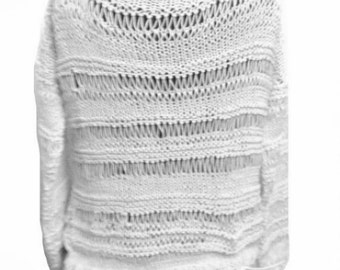 Oversized Sweater Dropped Shoulders Long Sleeves Knitting Pattern PDF Pattern Easy Knitting PDF Pattern Is not a finished product.