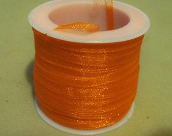"""Orange Organza Ribbon-1/8""""-10 YDS"""