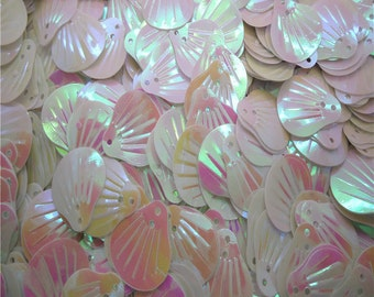 White Sequins-Sea Shell-12x14mm-100 PCS - #SS01