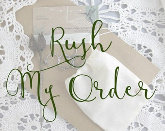 Rush Shipping // Shipping Upgrade // Priority Mail