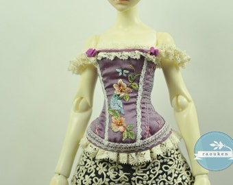 Birds of Spring BJD Art Line Corset for Cerisedolls Classic MSD