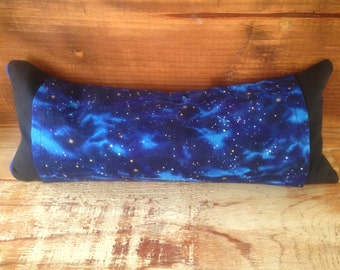 Reiki Pillow, Usui, Reiki Supplies, Neck Support, Blue, Black, Deep Space, Outer Space, Astral Journey, Stars, Ether, Universal Energy, Zen
