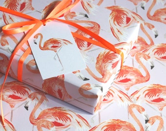 Flamingo Eco Wrapping Paper