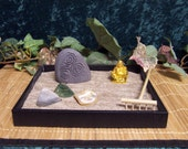 Zen Garden with 1 Engraved Stone TRISCLE Rock