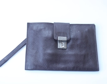 Vintage Brown Business Wallet Clutch