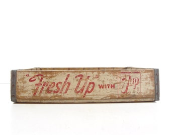 Vintage Wood 7 Up Soda Pop Crate