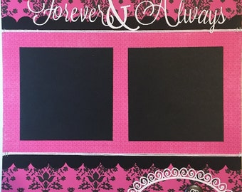 Forever & Always - 12x12 Premade 1 Page Scrapbook Layout