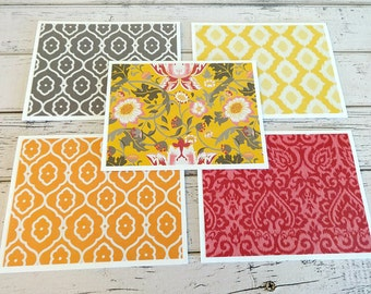 Blank Note Cards, Note Card Set, Blank Cards, Thank You Notes, Stationary, Set of 5 Note Cards with Matching Envelopes, Floral Note Cards