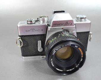 Vintage Minolta SRT, MC-II 35mm Camera, 55 mm Rokkor Lens, 1960's Vintage