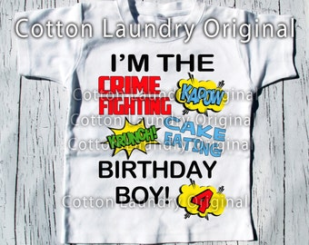 Superhero | birthday | shirt |comic | superhero party | birthday | shirt | baseball | raglan style | Super hero party theme birthday | tee