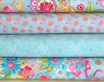 Colette Fabric Bundle, Moda's Chez Moi, Fabric Bundle of, 4 Different Coordinating Fabrics