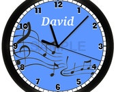 Personalized MUSIC Notes WALL CLOCK