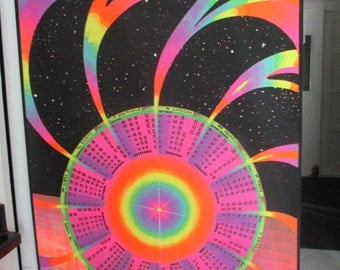 "Rare Psychedelic"" Horoscope"" Blacklight Poster"