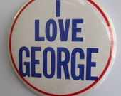 I LOVE GEORGE Harrison Collectors 1964 Beatle Pin