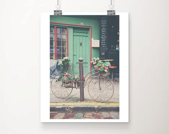 bicycle photograph Paris photograph Paris decor Paris print bicycle print French decor travel photograph Paris cafe photograph