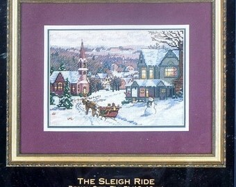 20%OFF Dimensions The Gold Collection Petites THE SLEIGH Ride By Randy Van Beek Christmas - Counted Cross Stitch Kit