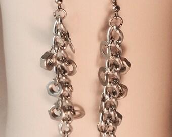 Nuts & Washers Dangle Earrings