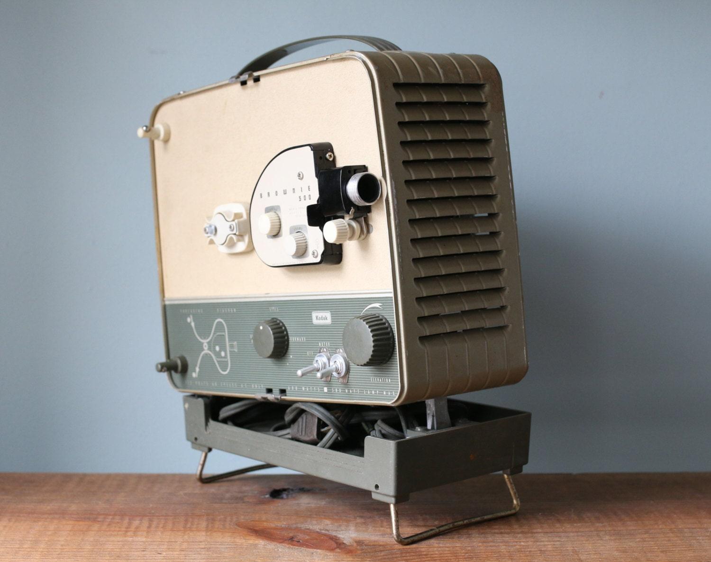Vintage portable kodak brownie 500 movie projector from for Portable movie projector