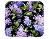 Floral Mouse Pad - Fabric mousepad - Purple lilac - Home office / computer