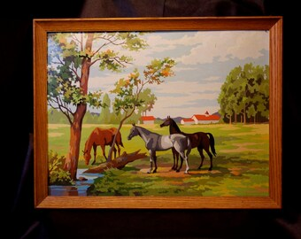 Large paint by number horses