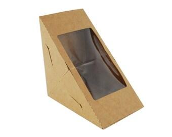 Sandwich Box, Dessert Box, Wedge Tray, Pie Wedge Tray, 12 Boxes, Party Favor, Cake Tray, Sandwich Tray Wedge Box