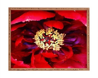 Decorative Square Tray ~ Love Red Floral Decorative Tray, sensual kitchen cocktail tray, love passion home accessory, bridal shower gift