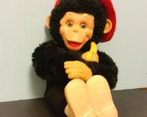 Vintage Rubber Face Monkey