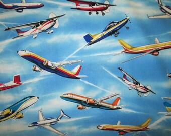 Airplane Cotton Fabric Fat Quarter Or Custom Listing