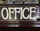 OFFICE Workspace Room Work at Home Area Plaque Wooden Sign You Pick Color
