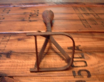 Vintage Handmade Branding Iron, Wrought Iron, Hand Forged, Your Choice of D, or L