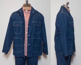 40 | 1980's JC Penny BIG MAC Denim Chore Jacket Men's Work Wear