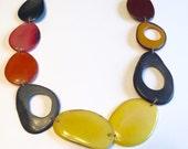 Tagua Necklace - Macrame Jewelry- Eco-friendly/ tagua and acai seeds necklace