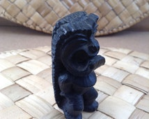 Vintage Lava TIKI God.  Made in Hawaii, Tiki Bar.  CocoJoes.  Mid century modern, kitsch, Eames era. 1960's.
