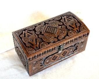 Jewelry box Wooden box Ring box Wedding jewelry box Jewellery box Wooden jewelry box Wood carving box Wedding ring box Jewelry wooden box B7