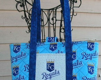 Large Kansas City Royals Bag/Tote, Quilted, Personalization is available