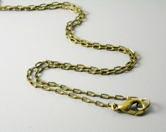 CHAIN-AB-4MMx2MM - 4x2mm Antique Bronze Plated Brass Necklace