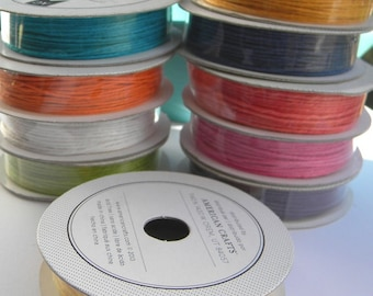 Bakers Twine - 10 spools 4 yards each - thin bakers twine in a range of colors -packaging supplies - gift wrap - scrapbooking