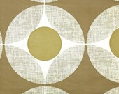 Retro Wallpaper by the Yard 70s Vintage Wallpaper - 1970s Metallic Gold and Brown Geometric Circle Retro Wallpaper