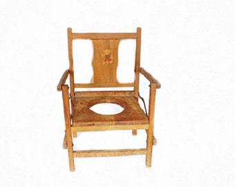 Antique Potty Chair, Wooden Potty Chair, Antique Decor, Nursery Decor, Child Toy Chair, Primitive Decor, Kids Chair, Kids Potty Seat