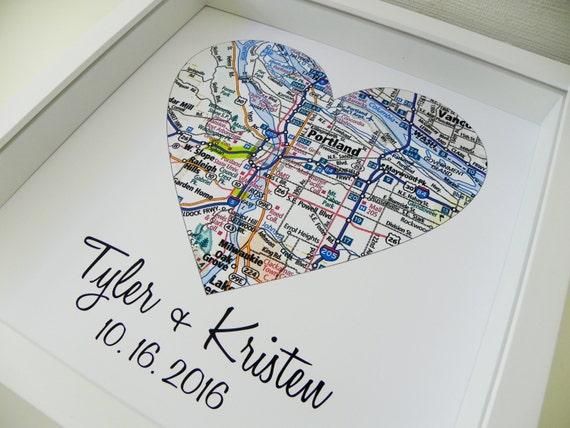 Wedding Gift Ideas Personalized: Ersten Jahrestag Geschenk Papier Geschenk Karte Herz Kunst