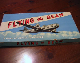 Original Flying the Beam Vintage Board Game by Parker Brothers.