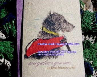 everywhere you was / black terrier dog cards / dog in boat/personalize/ storybook/sentimental /unique empathy condolence/pet sympathy cards