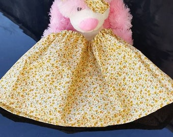 Lemon Drizzle cotton skirt with matching knotted headband *  from 0 to 6 months