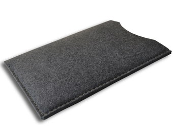 Microsoft  Surface Pro 4, Surface Book, Pro 3 Tablet Sleeve Grey Synthetic Felt Case Cover. Hand Sewn.