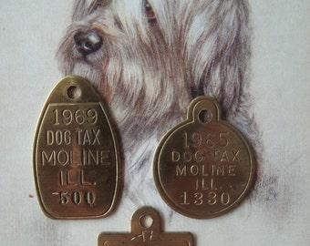 Vintage Dog License - Dog Tax Tags