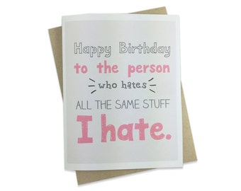 Funny Birthday Card, Friend's Birthday, For Boyfriend, Girlfriend, Husband, Wife, Introvert, Antisocial, Friend, Humor